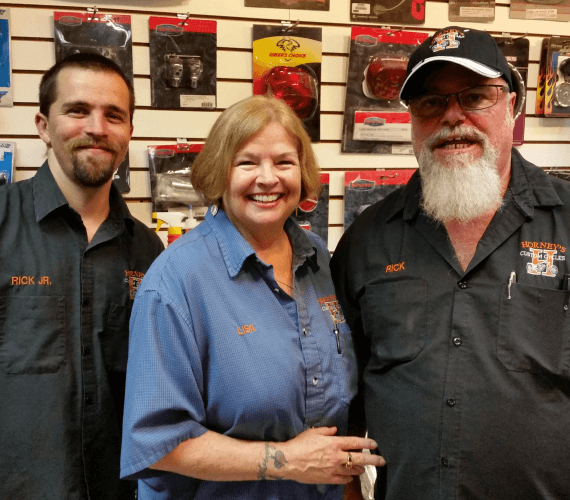 Rick Jr., Lisa, and Rick Horney - Horney's Custom Cycles, Inc.